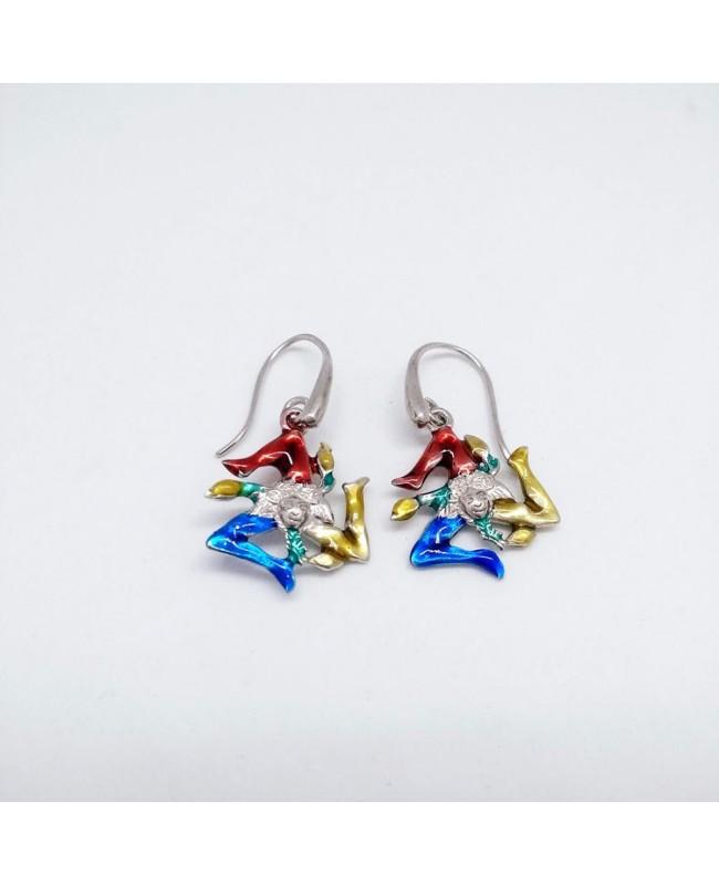 Earrings Trinacria Smalto IMOR28R - 1 - Orecchini