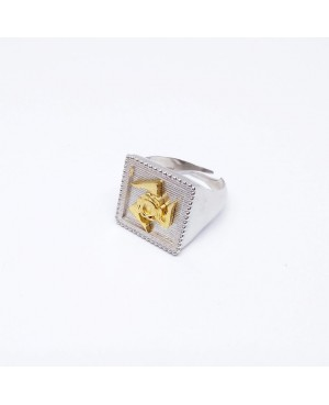 Anello Quadro Trinacria IMAN20RD - 1 - Anelli