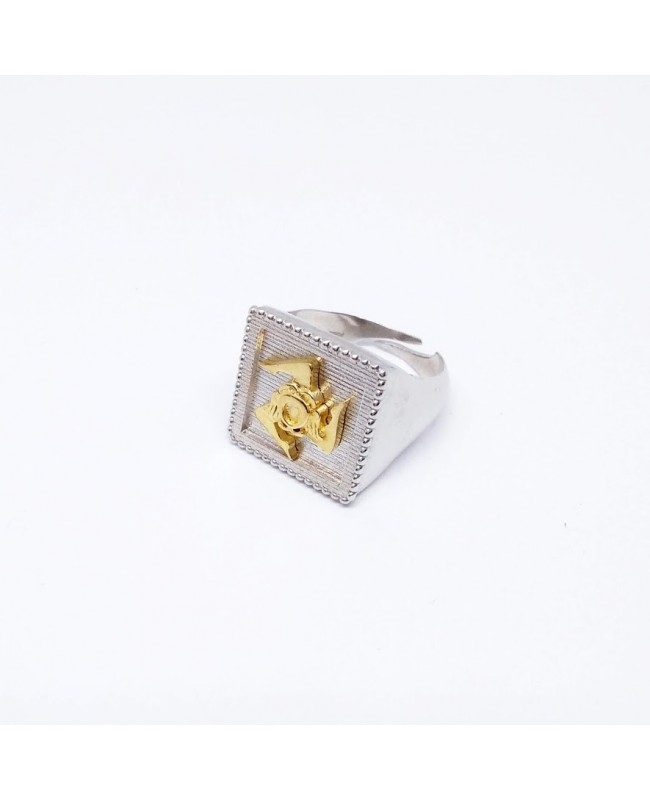 Ring Quadro Trinacria IMAN20RD - 1 - Anelli
