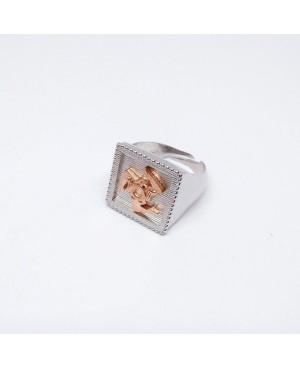 Anello Quadro Trinacria IMAN20RRO - 1 - Anelli