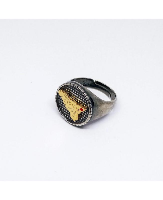 Ring Tondo Trinacria IMAN07RRO - 1 - Anelli