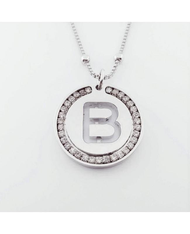 Initial Necklace Brass B - 1 - Iniziali