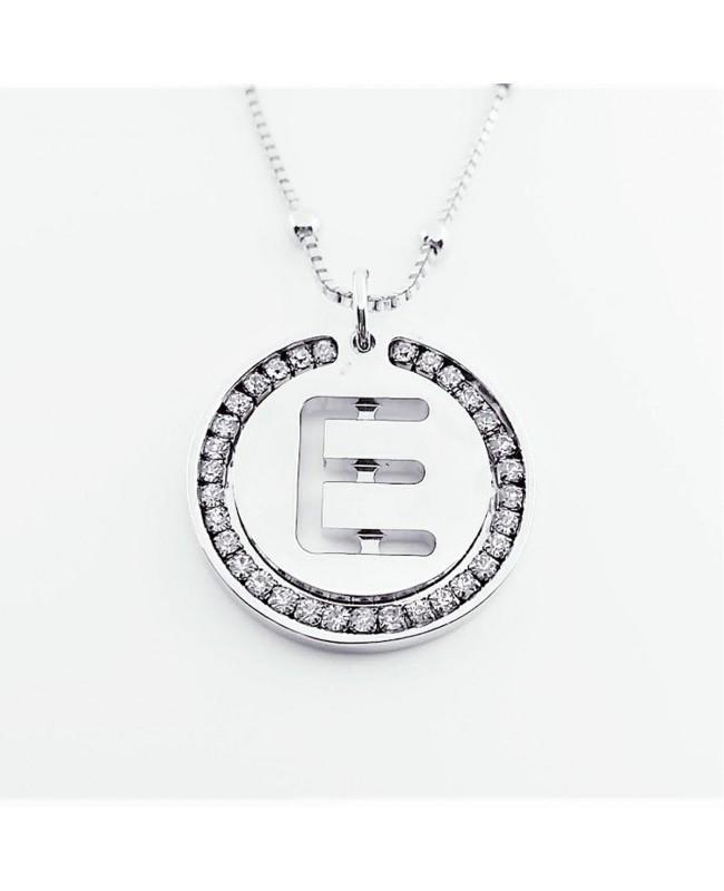 Initial Necklace Brass E - 1 - Iniziali