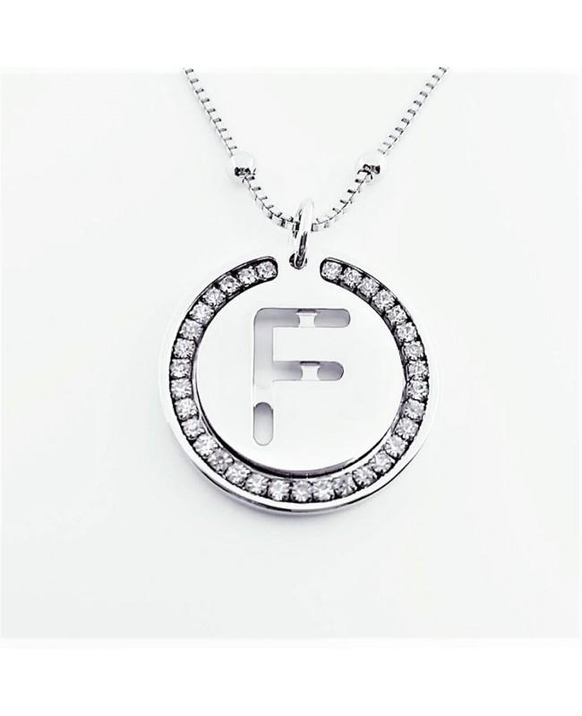 Initial Necklace Brass F - 1 - Iniziali