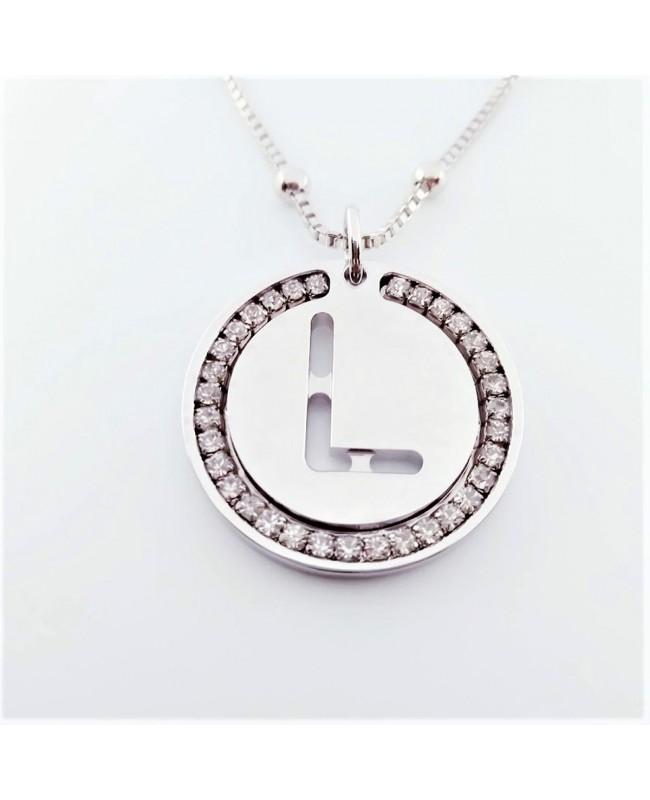 Initial Necklace Brass L - 1 - Iniziali