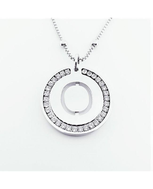 Initial Necklace Brass O - 1 - Iniziali