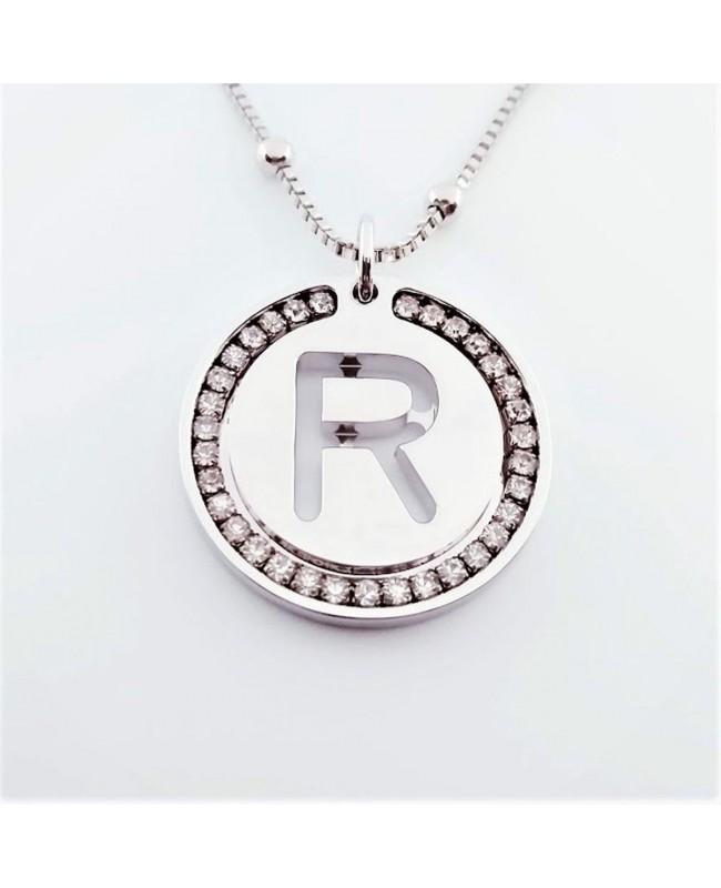 Initial Necklace Brass R - 1 - Iniziali