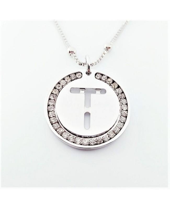 Initial Necklace Brass T - 1 - Iniziali