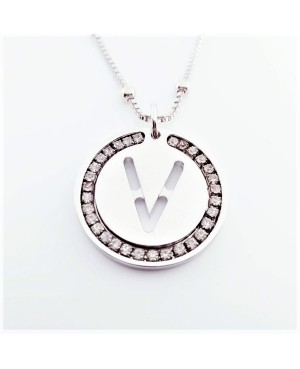 Initial Necklace Brass V - 1 - Iniziali