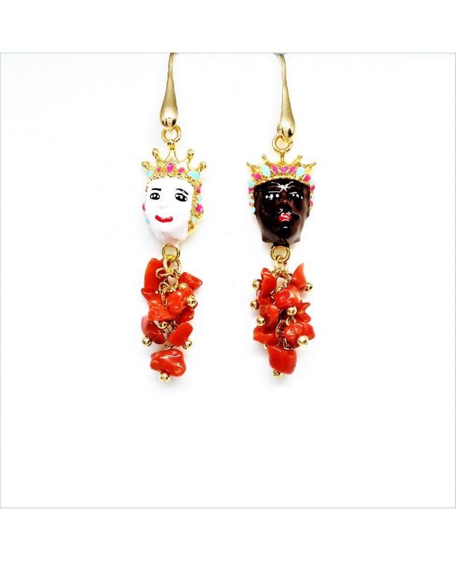 Earrings Mori con ciuffo IMOR43C - 1 - Orecchini