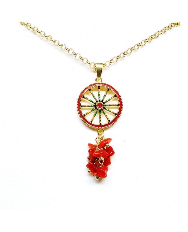 Necklace Ruota con ciuffo AL01 - 1 - Collane