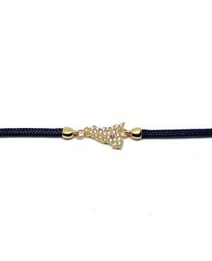 Bracelet Sicilia Pic Zirc Etna Cordino Blu Scuro IMBR193D - 2 - Bracciali