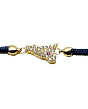 Bracelet Sicilia Pic Zirc Etna Cordino Blu Scuro IMBR193D - 3 - Bracciali