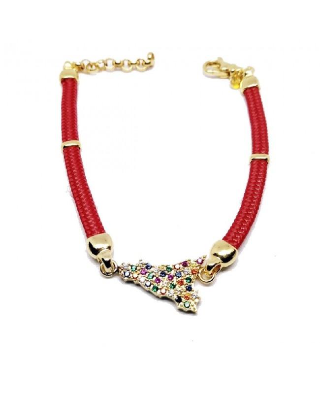 Bracelet Sicilia Gr Zirc Cordino Rosso IMBR192D - 1 - Bracciali