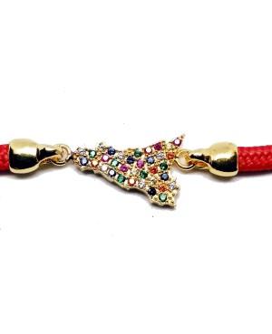 Bracelet Sicilia Gr Zirc Cordino Rosso IMBR192D - 3 - Bracciali
