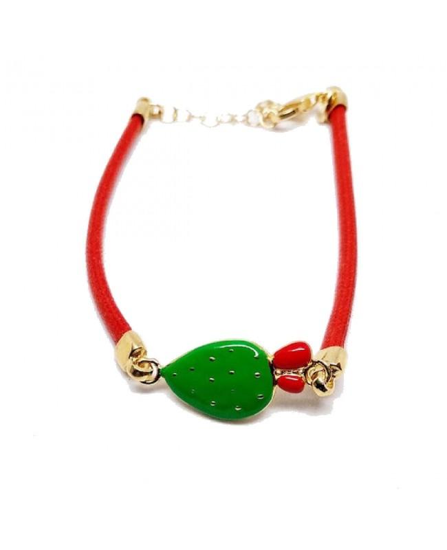 Bracelet Ficodindia Cordino Rosso IMBR35D - 1 - Bracciali