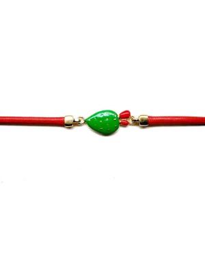 Bracciale Ficodindia Cordino Rosso IMBR35D - 2 - Bracciali