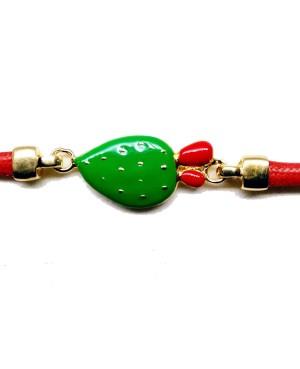 Bracciale Ficodindia Cordino Rosso IMBR35D - 3 - Bracciali