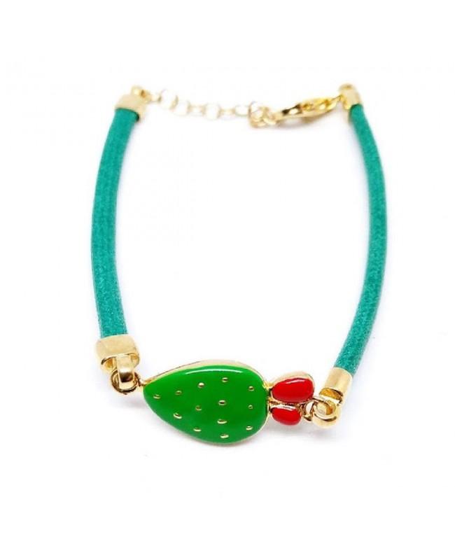 Bracelet Ficodindia Cordino Verde IMBR35D - 1 - Bracciali