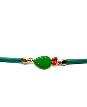 Bracciale Ficodindia Cordino Verde IMBR35D - 2 - Bracciali