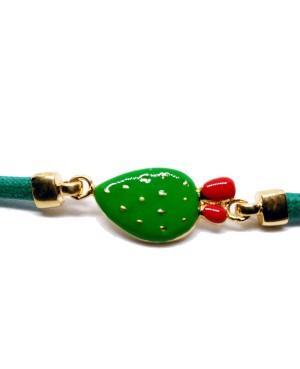 Bracciale Ficodindia Cordino Verde IMBR35D - 3 - Bracciali