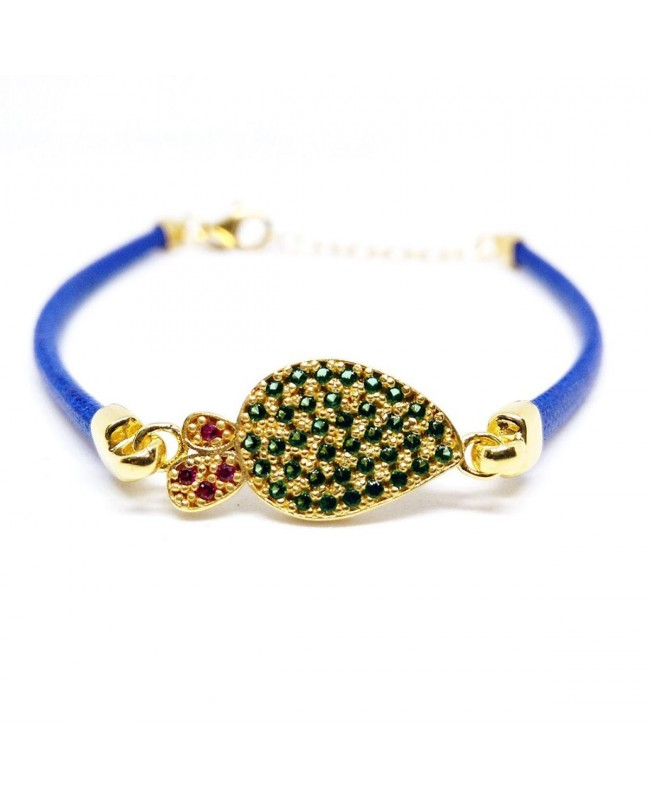 Bracelet Ficodindia Zirc Cordino Blu IMBR03D - 1 - Bracciali