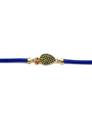 Bracciale Ficodindia Zirc Cordino Blu IMBR03D - 3 - Bracciali