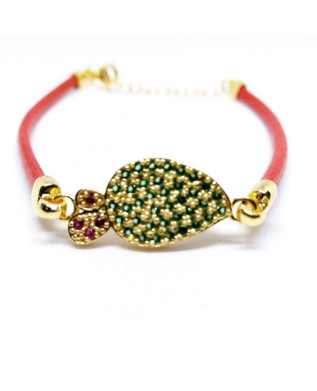 Bracelet Ficodindia Zirc Cordino Rosso IMBR03D - 1 - Bracciali