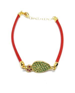 Bracelet Ficodindia Zirc Cordino Rosso IMBR03D - 2 - Bracciali