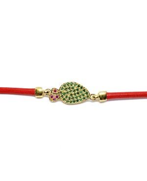 Bracelet Ficodindia Zirc Cordino Rosso IMBR03D - 3 - Bracciali