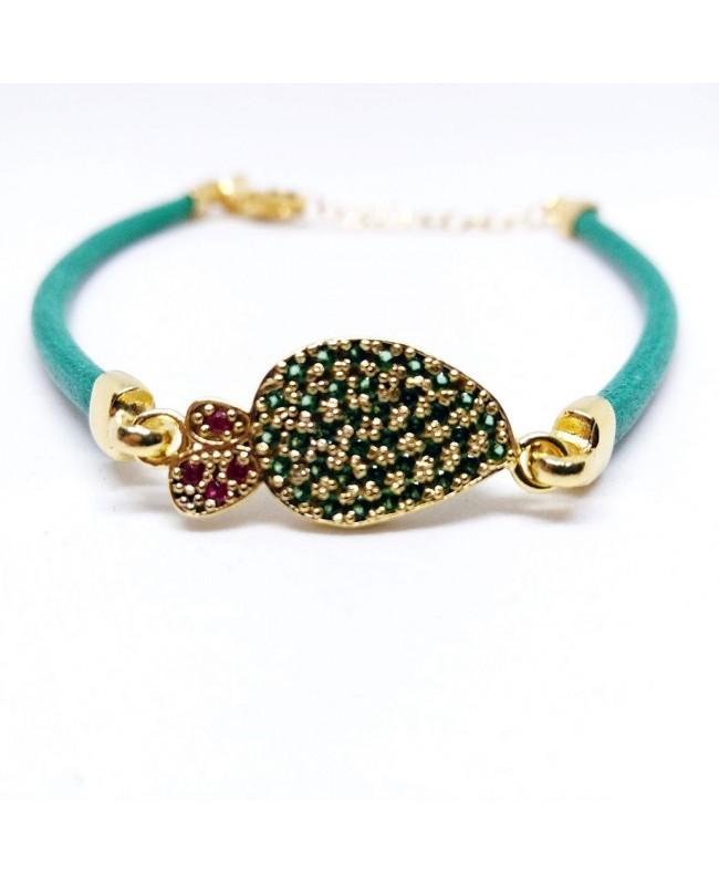 Bracelet Ficodindia Zirc Cordino Verde IMBR03D - 1 - Bracciali