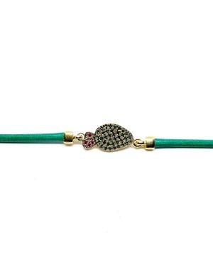 Bracciale Ficodindia Zirc Cordino Verde IMBR03D - 2 - Bracciali