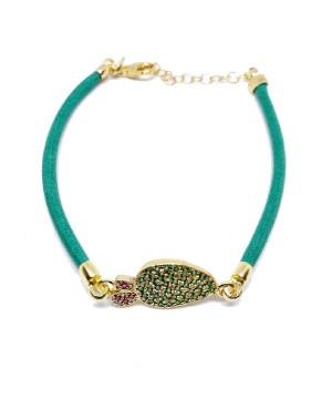 Bracciale Ficodindia Zirc Cordino Verde IMBR03D - 3 - Bracciali