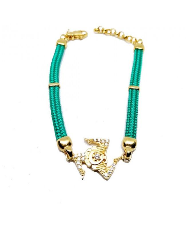 Bracelet Trinacria Gr Zirc Bia Cordino Verde IMBR190D - 1 - Bracciali