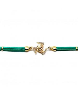 Bracelet Trinacria Gr Zirc Bia Cordino Verde IMBR190D - 2 - Bracciali