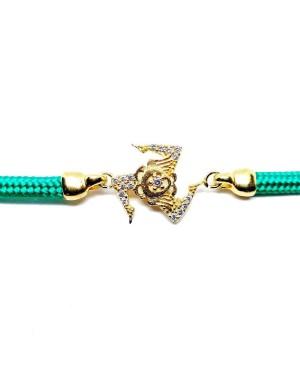 Bracelet Trinacria Gr Zirc Bia Cordino Verde IMBR190D - 3 - Bracciali