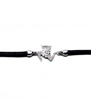 Bracelet Trinacria Gr Zirc Bia Cordino Nero IMBR190D - 2 - Bracciali