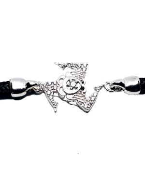 Bracelet Trinacria Gr Zirc Bia Cordino Nero IMBR190D - 3 - Bracciali