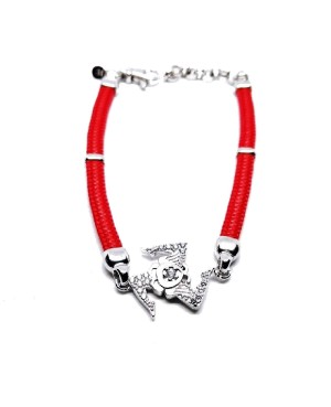 Bracelet Trinacria Gr Zirc Bia Cordino Rosso IMBR190R - 1 - Bracciali