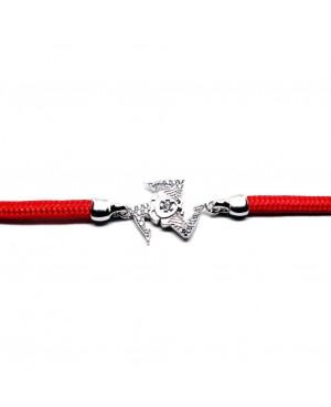 Bracelet Trinacria Gr Zirc Bia Cordino Rosso IMBR190R - 2 - Bracciali