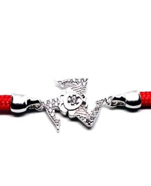 Bracelet Trinacria Gr Zirc Bia Cordino Rosso IMBR190R - 3 - Bracciali