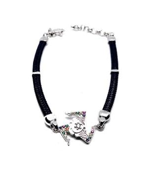 Bracelet Trinacria Gr Zirc Col Cordino Blu Scuro IMBR190R - 1 - Bracciali