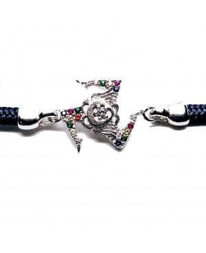 Bracelet Trinacria Gr Zirc Col Cordino Blu Scuro IMBR190R - 3 - Bracciali