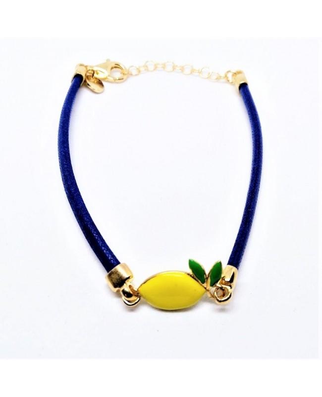 Bracciale Limone Picc Cordino Blu IMBR24D - 1 - Bracciali