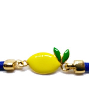 Bracciale Limone Picc Cordino Blu IMBR24D - 3 - Bracciali