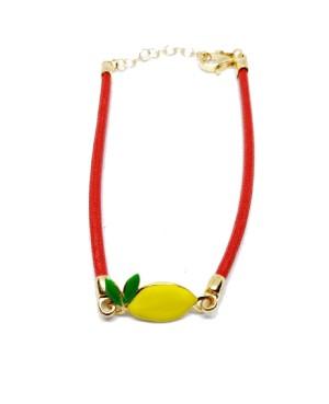 Bracciale Limone Picc Cordino Rosso IMBR24D - 1 - Bracciali