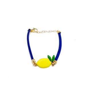 Bracelet Limone Cordino Blu Gr IMBR23D - 1 - Bracciali