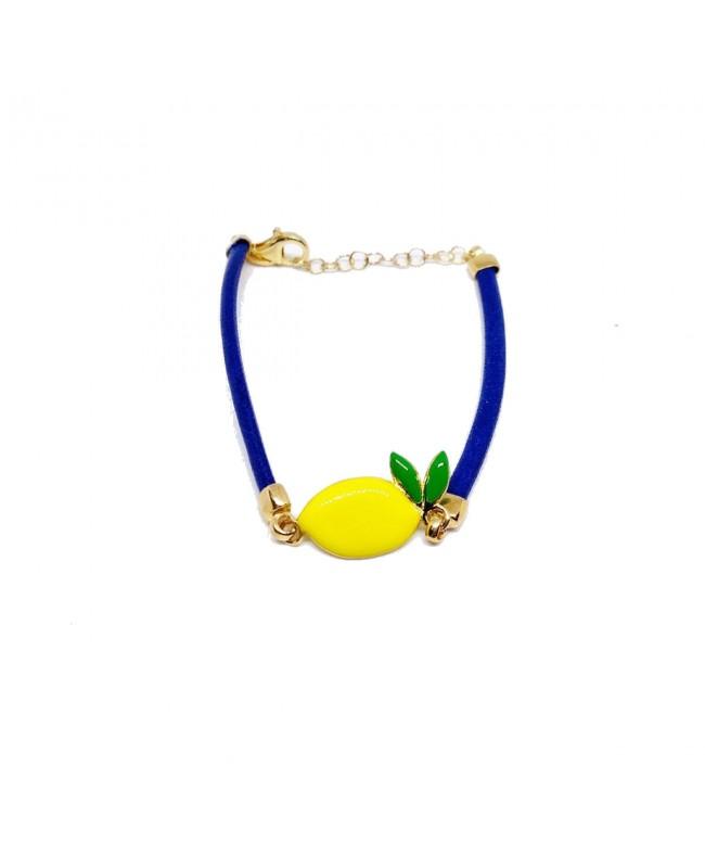 Bracciale Limone Cordino Blu Gr IMBR23D - 1 - Bracciali