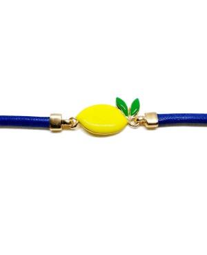 Bracciale Limone Cordino Blu Gr IMBR23D - 2 - Bracciali
