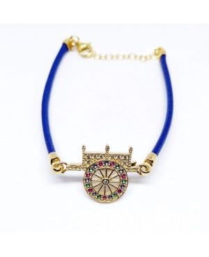 Bracelet Carretto Zirc Cordino Blu IMBR17D - 1 - Bracciali